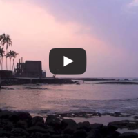 """Hawaii Sunset Video:  Watching the Sunset at the City of Refuge in Hawaii"""