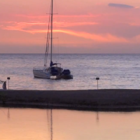 """Hawaii Sunset Video:  Anaeho'omalu Bay, Waikoloa Beach, Hawaii"""