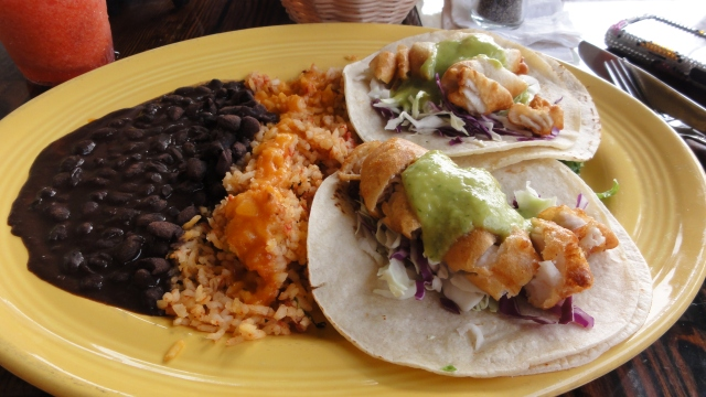 Fish Tacos at Rosa's Cantina