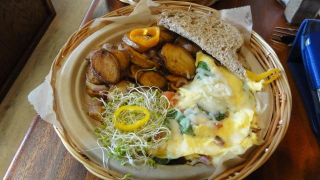 Veggie Omelet with Mozzarella Cheese