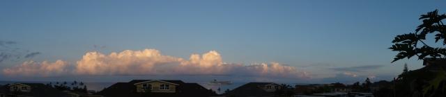 Early Wednesday morning in  Kailua Kona, HI