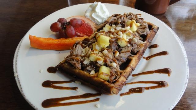 Kalua Pork Waffles