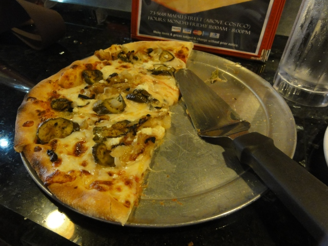 Roasted Eqqplant Pizza